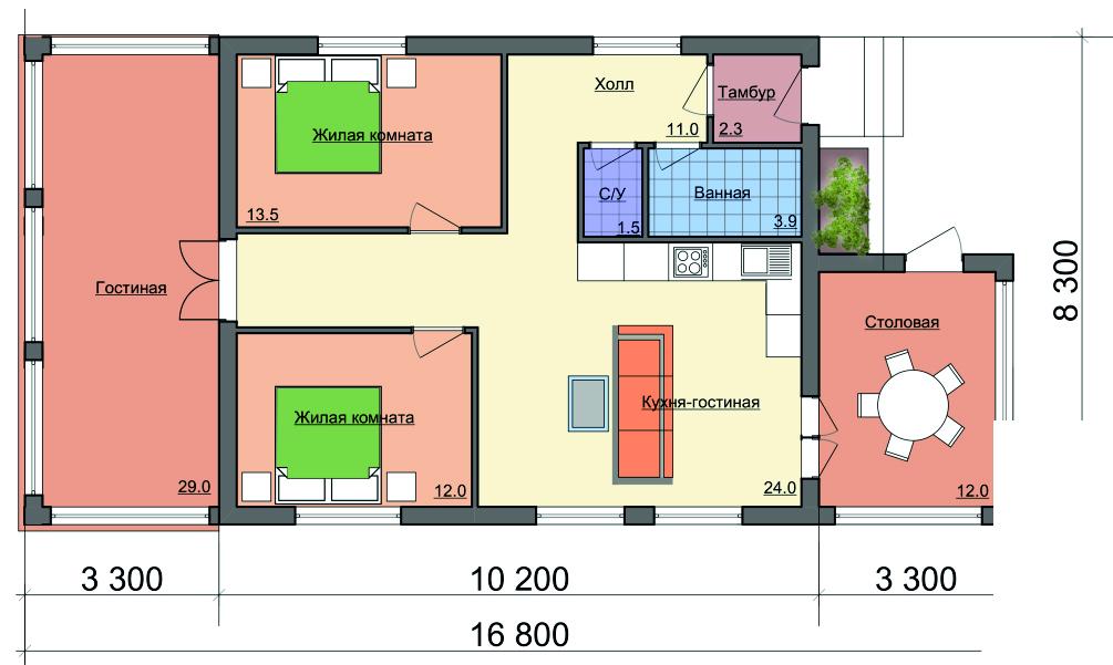 Растущий дом - план